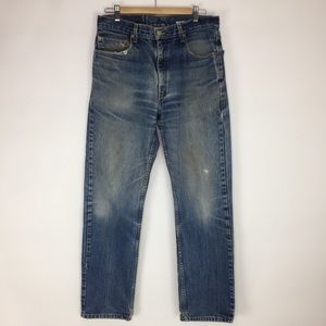 Levi's 505 Regular Fit Straight Leg Jeans 34/32